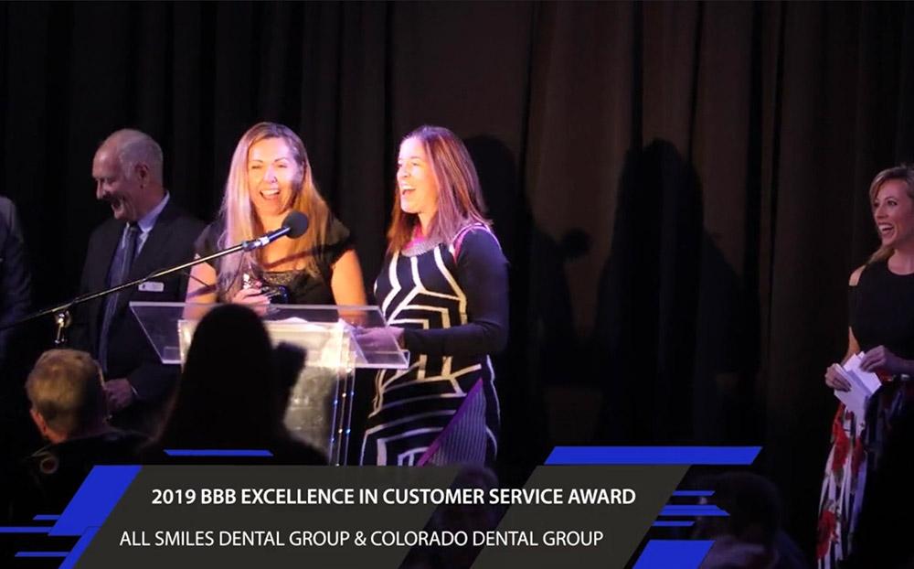 All Smiles Dental Group and Colorado Dental Group Receiving BBB Award